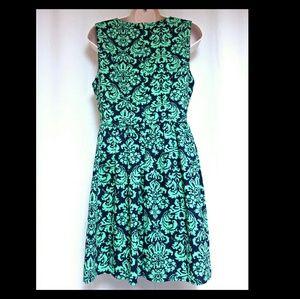Altar'd State Dresses - **SALE**Fit & Flare Mini-Dress Navy & Green